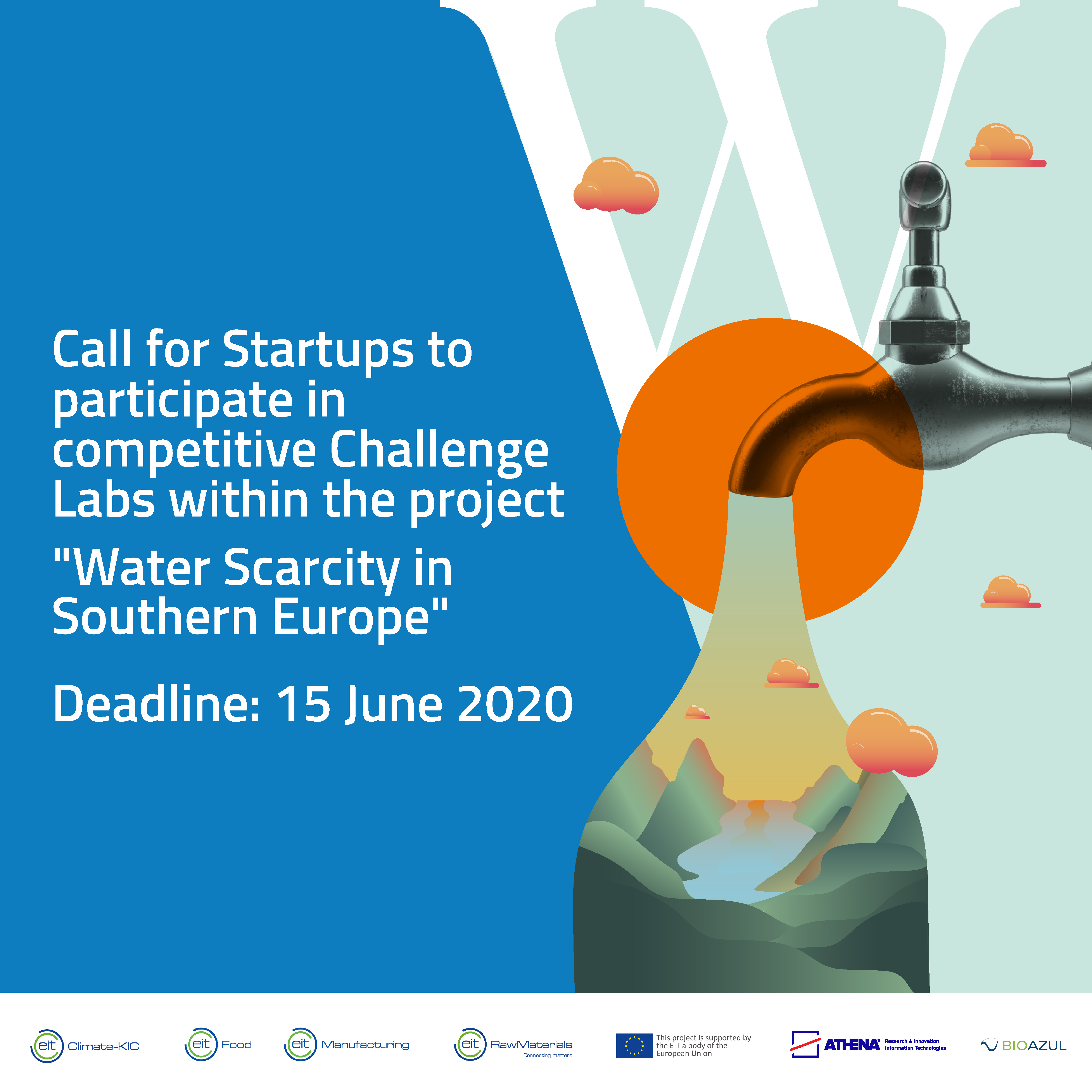 Applications open for startups coping with Water Scarcity in Southern Europe!