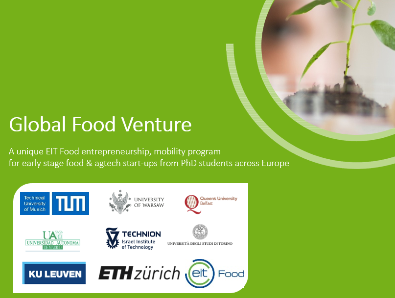 Applications now open for the Global Food Venture program !