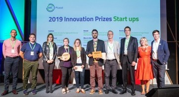 The Polyfly and Sonicat Systems start-ups win the EIT Food 'Innovation Prizes' in Bilbao