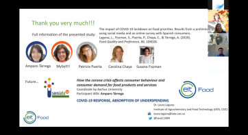 Personalised nutrition to help reduce the effect of diseases such as COVID-19, according to scientists at the 'EIT Food Innovation Forum'