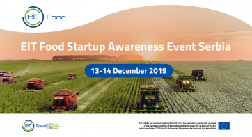 EIT Food Startup Awareness Event in Serbia - December 13-14