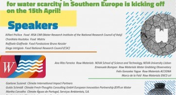 The Body of Knowledge on Innovative solutions for Water Scarcity in Southern Europe is about to kick off