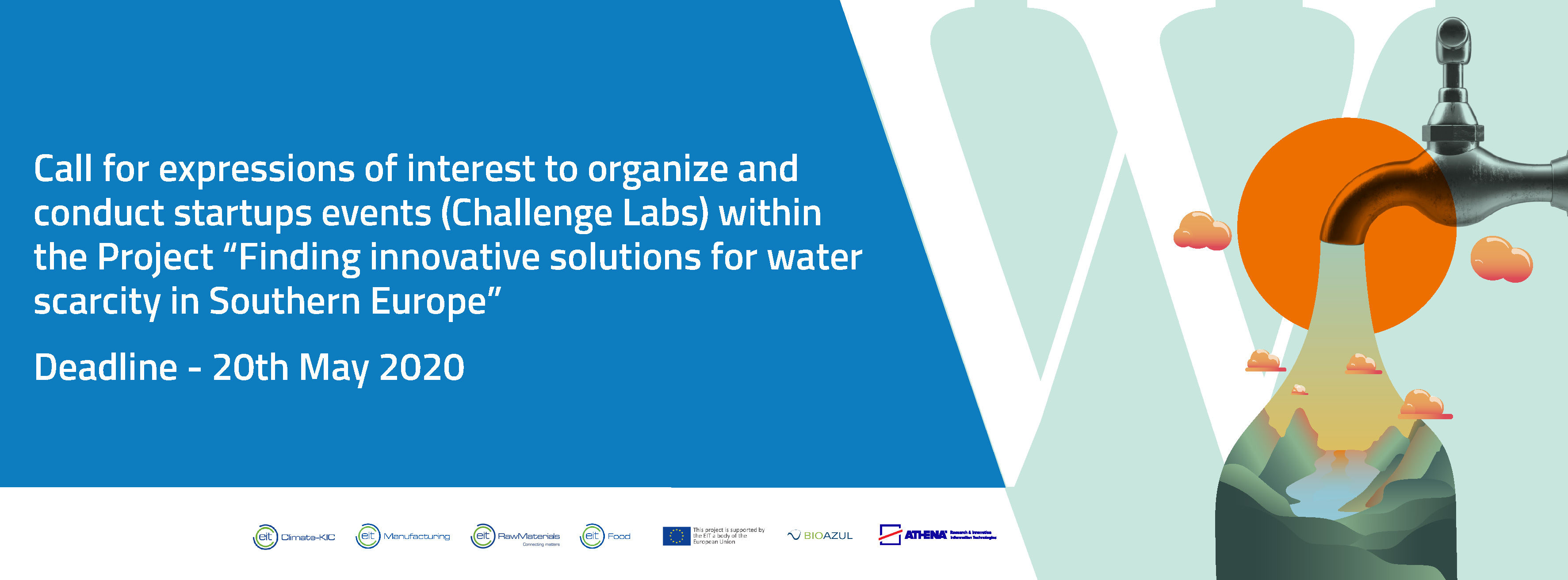 Call for expressions of interest to organise and conduct startup events to find innovative solutions for water scarcity