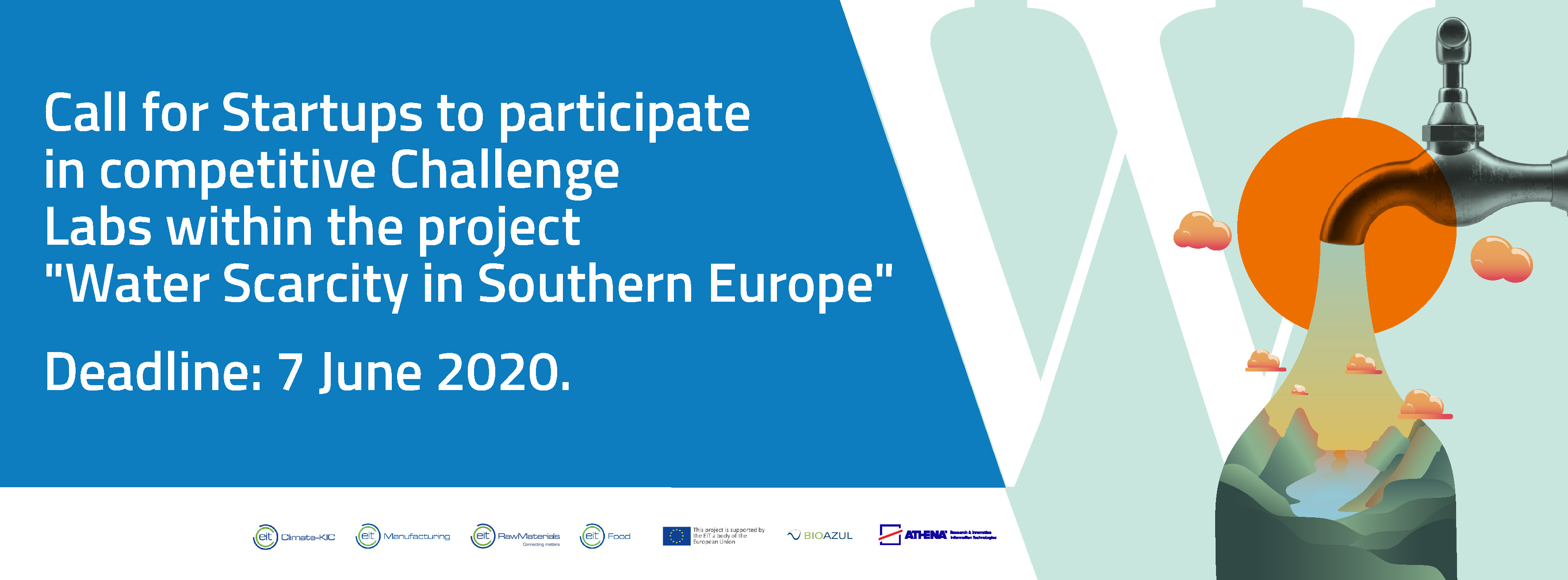 Applications open for startups that fight to cope with Water Scarcity in Southern Europe!