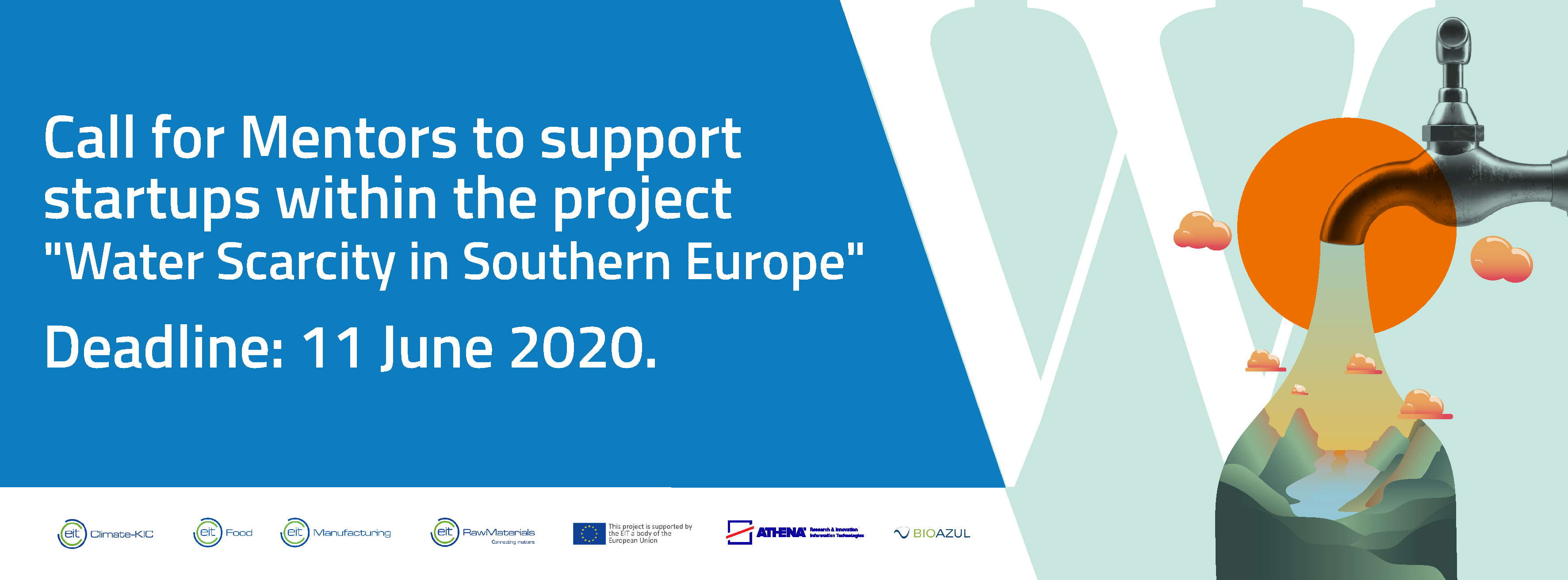 Call for mentors to support startups on innovative solutions for Water Scarcity in Southern Europe